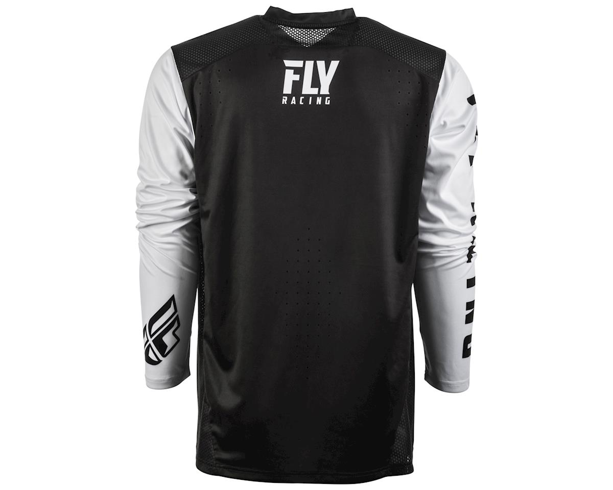 Fly Racing Radium Long Sleeve Jersey (Black/White) (XL)