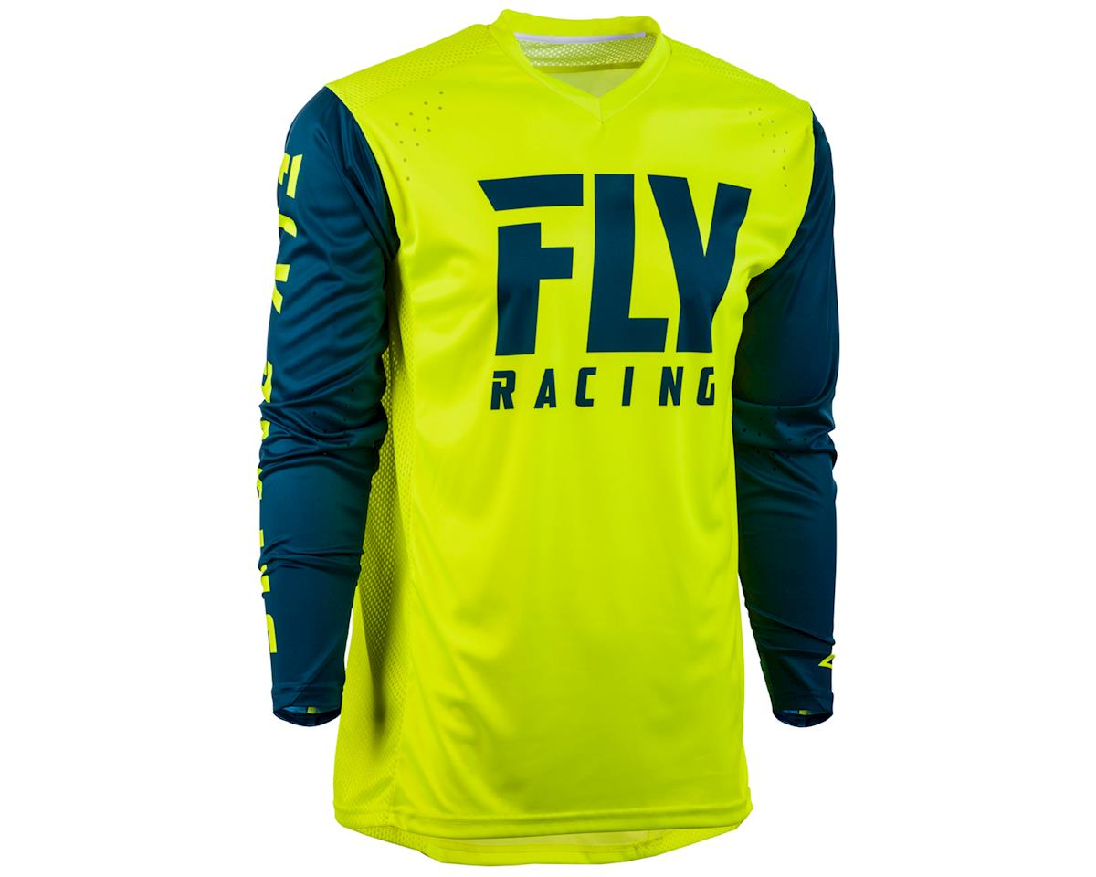 Fly Racing Radium Long Sleeve Jersey (Hi-Vis/Navy) (L)