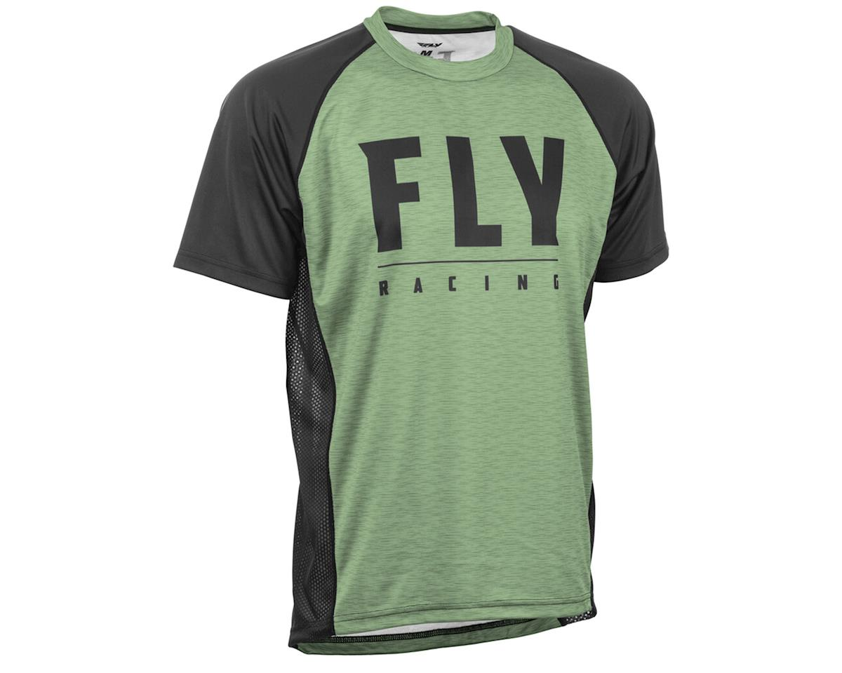 Image 1 for Fly Racing Super D Jersey (Sage Heather/Black) (M)