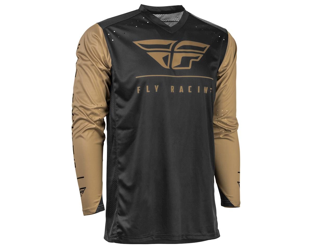 Fly Racing Radium Jersey (Black/Khaki) (2XL)