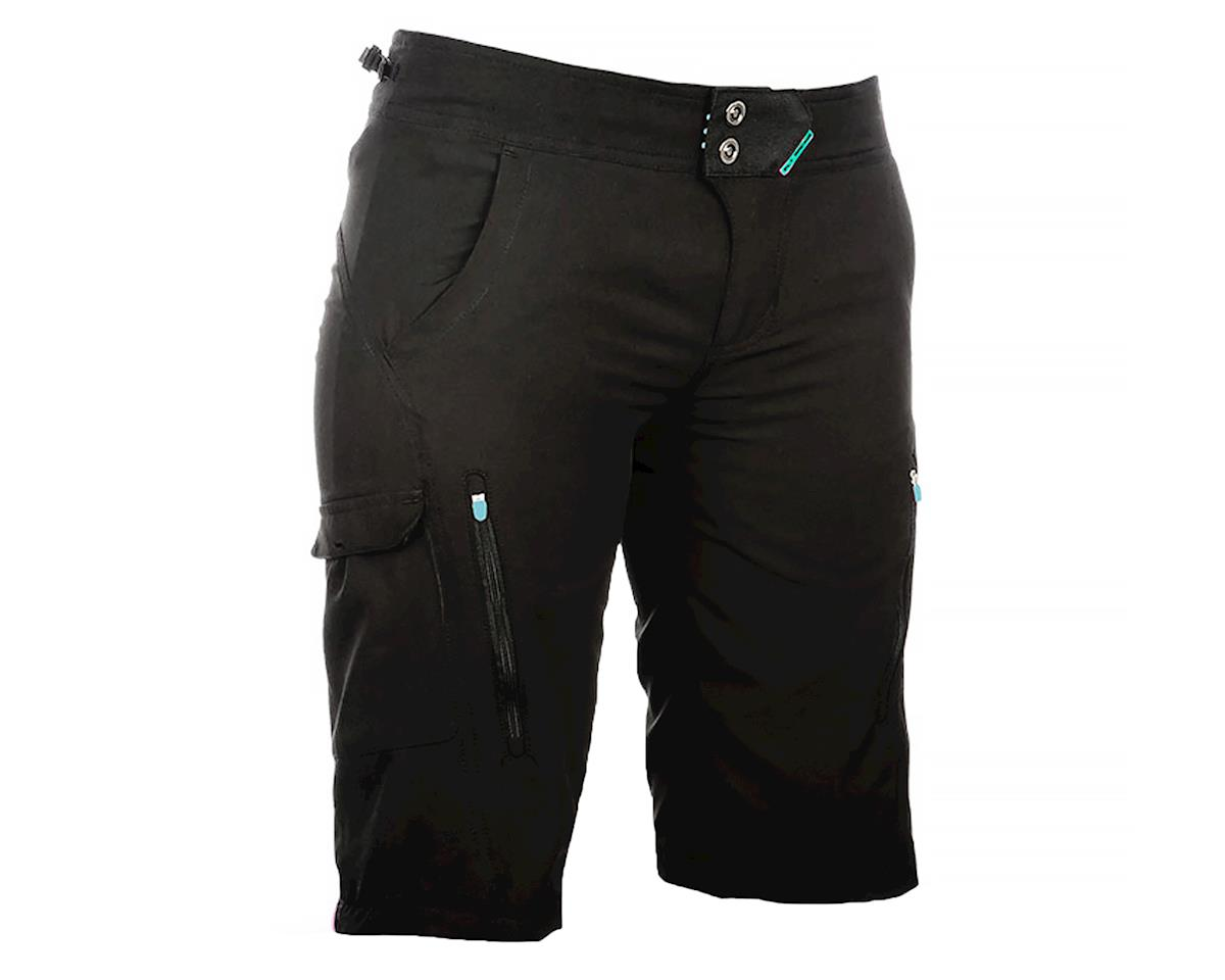 Fly Racing Lilly Women's Shorts (Black/Turquoise) (XS)