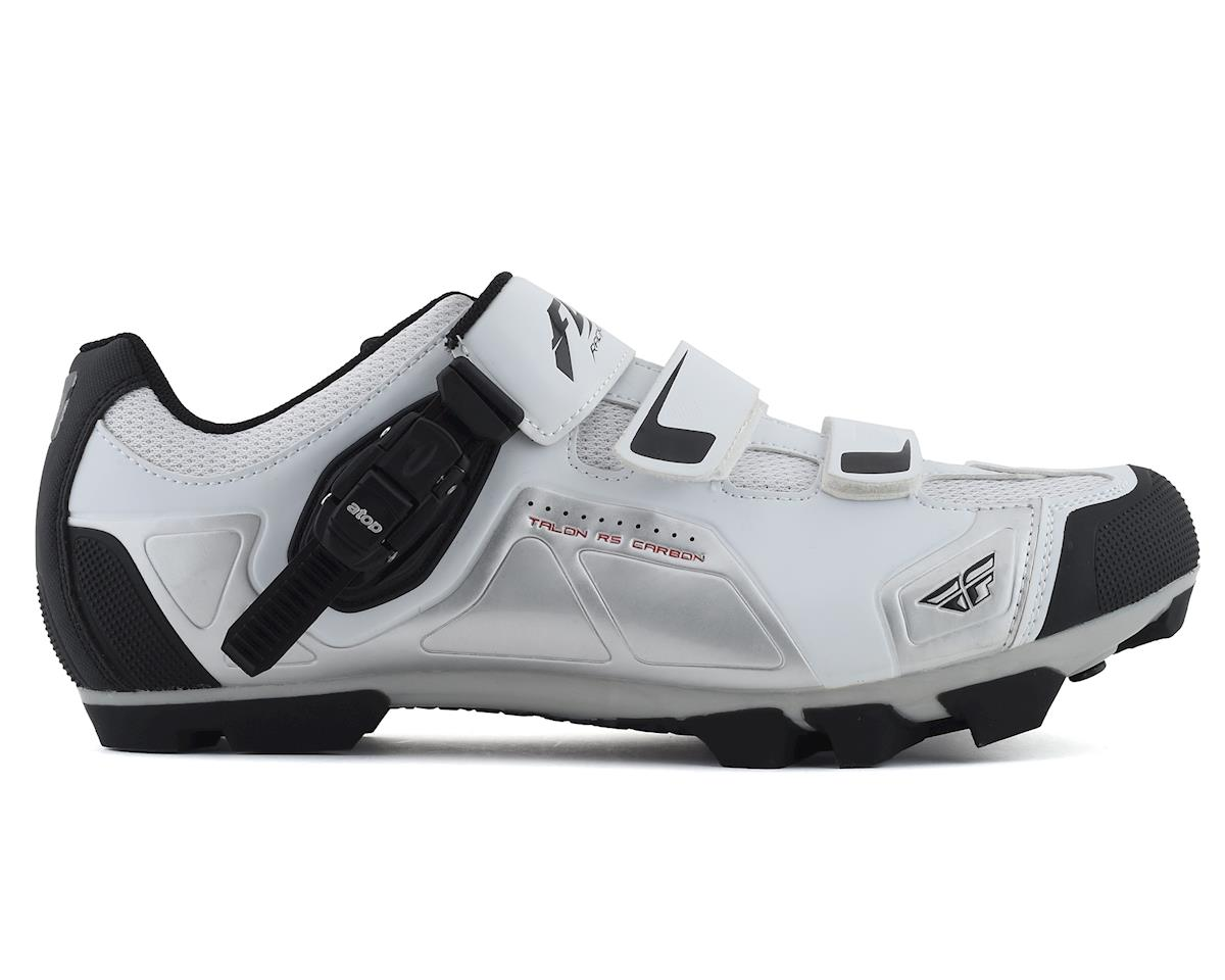 Fly Racing Talon RS Clipless Shoe (White/Silver) (42)