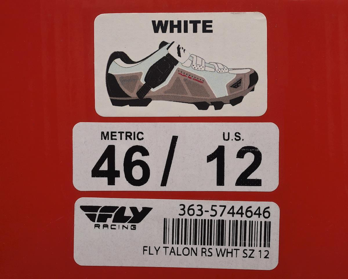 Image 5 for Fly Racing Talon RS Clipless Shoe (White/Silver) (46)