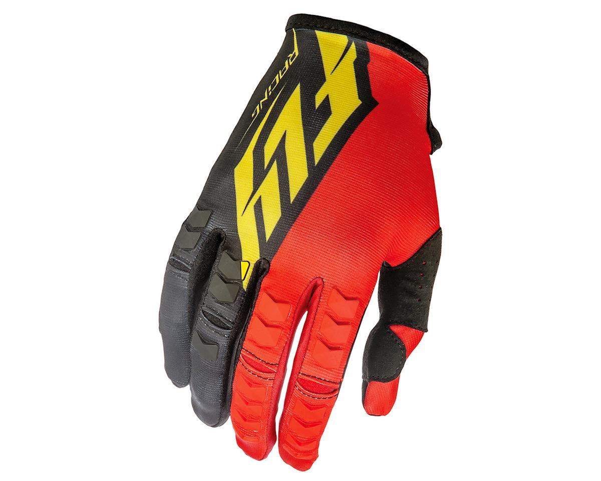 Fly Racing Kinetic MTB Glove (Red/Black/Yellow) (XS)