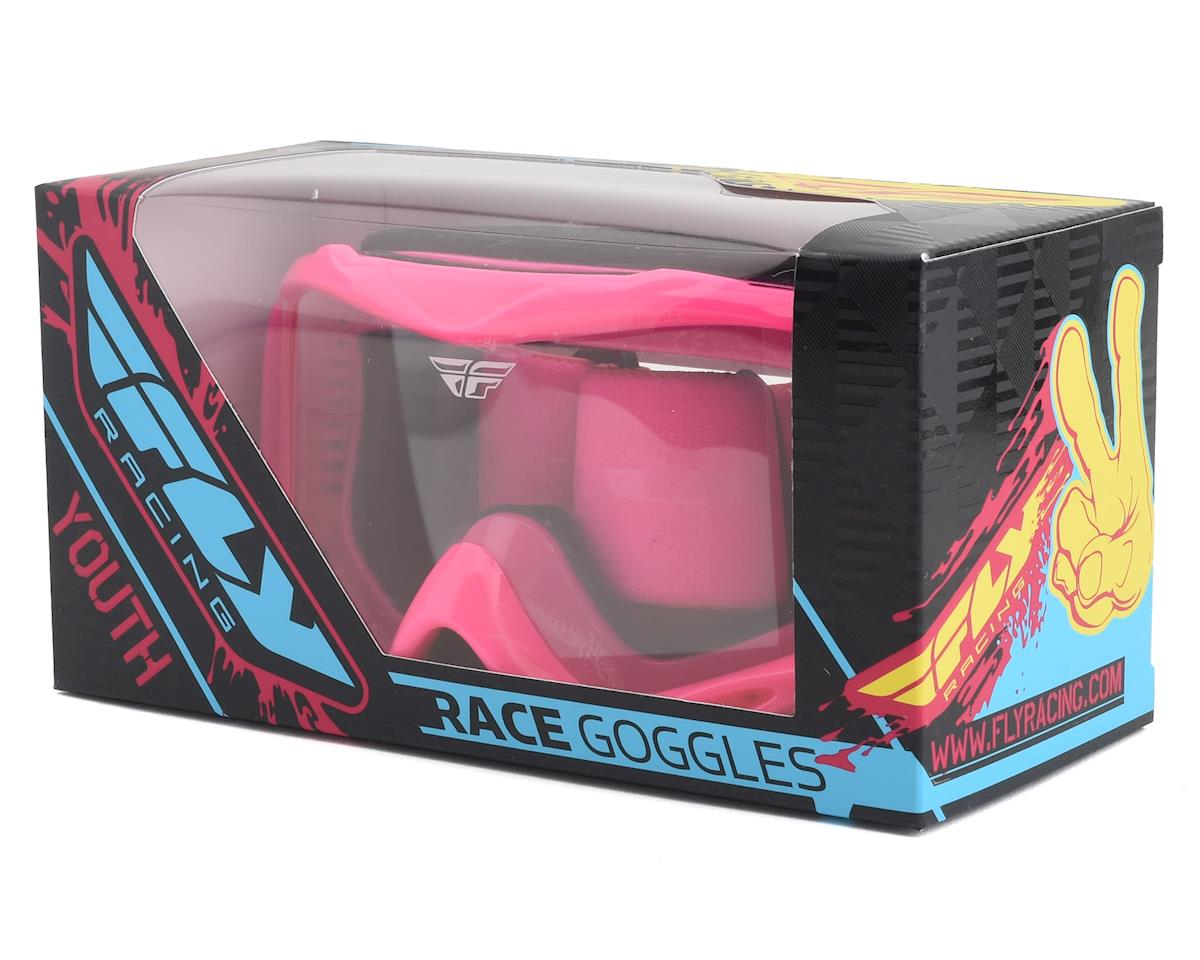 Fly Racing Focus Youth Goggle (Pink) (Clear Lens)