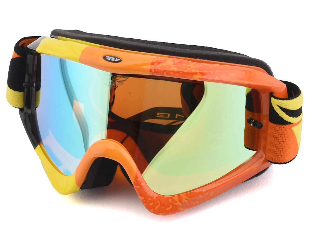 Fly Racing Zone Composite Goggle (Yellow/Orange/Black) (Orange Lens)