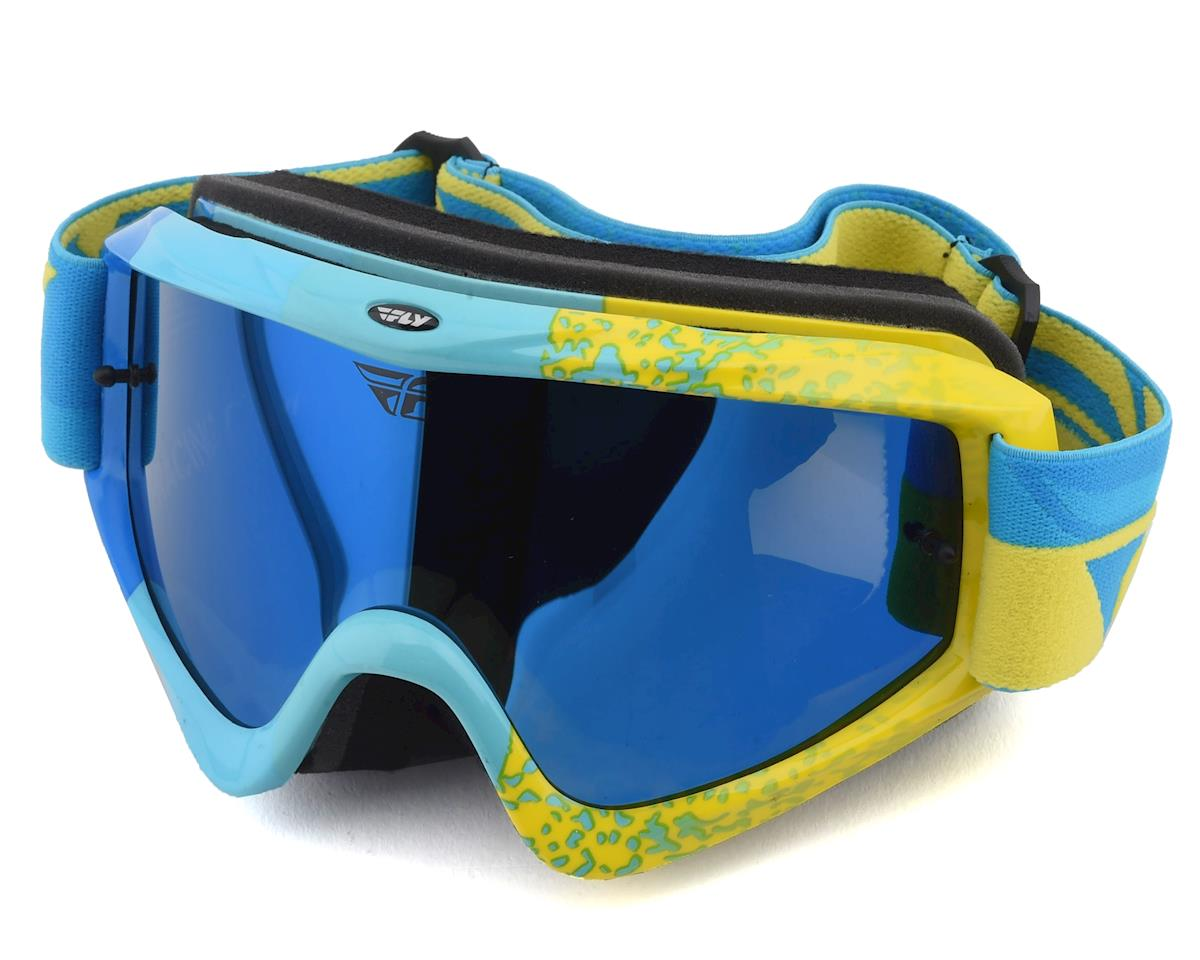 Fly Racing Zone Composite Goggle (Bluee/Hi-Vis) (Bluee Lens)