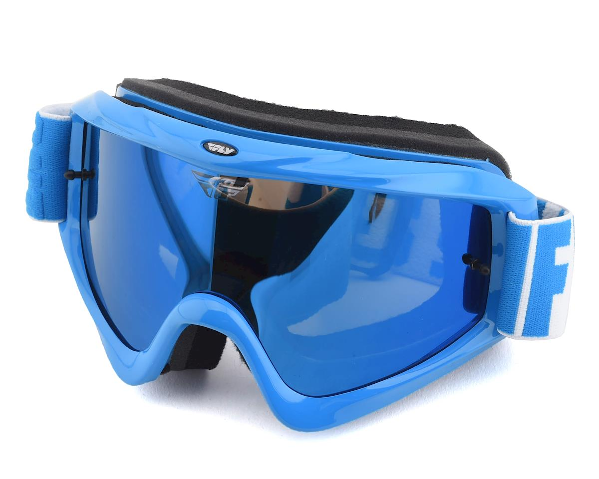 Fly Racing Zone Turret Goggle (Blue) (Blue Mirror Smoke Lens)