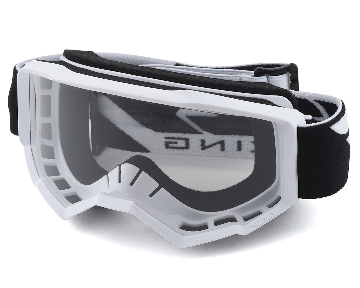 Fly Racing Focus Youth Goggle (White) (Clear Lens)