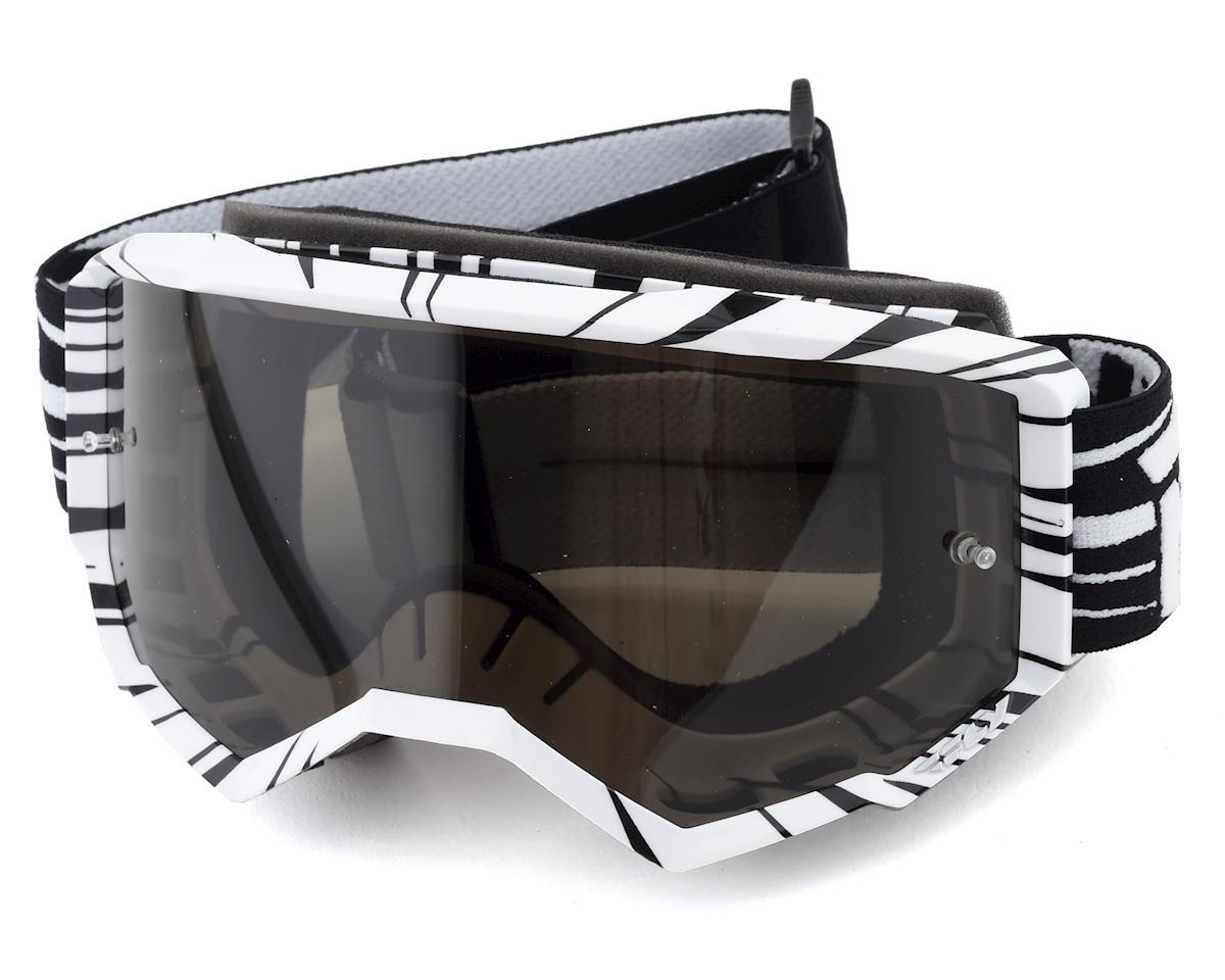 Fly Racing Zone Goggle (Black/White) (Dark Smoke Lens)
