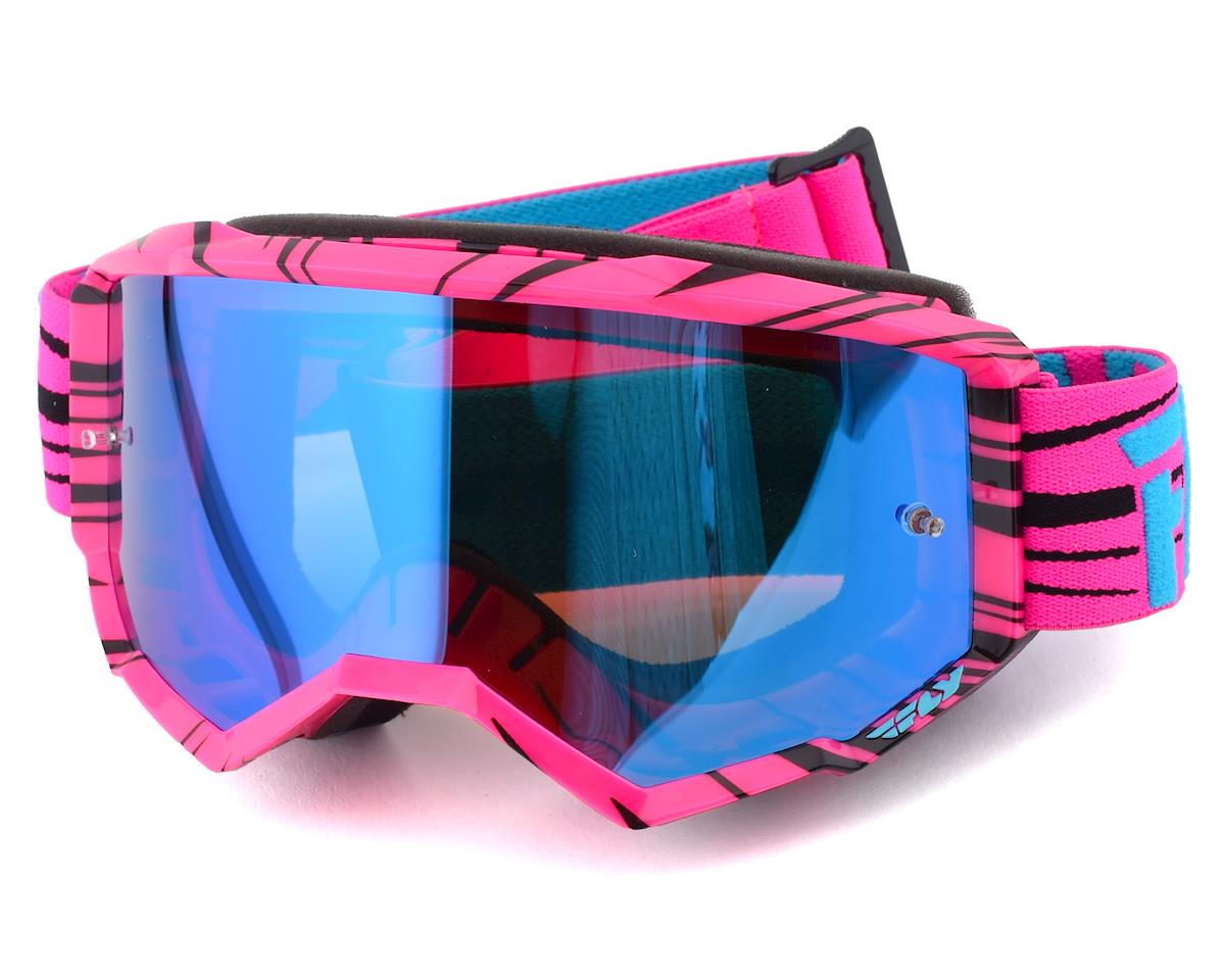 Fly Racing Zone Goggle (Pink/Teal) (Sky Blue Mirror Lens)