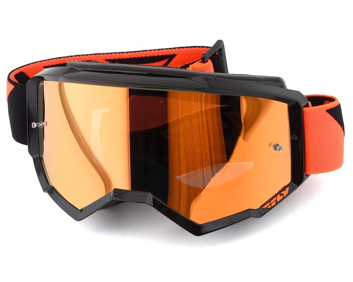 Fly Racing Zone Goggle (Black/Orange) (Orange Mirror Lens)