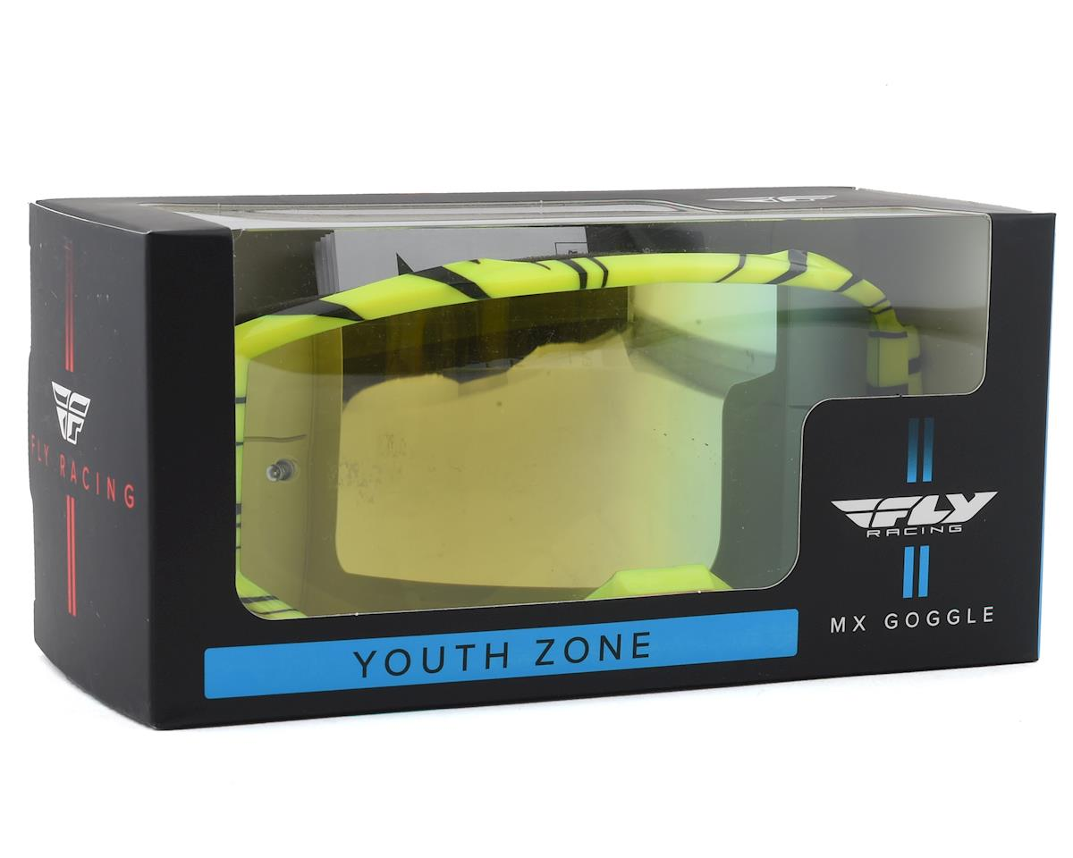Fly Racing Zone Youth Goggle (Hi-Vis/Black) (Gold Mirror Lens)