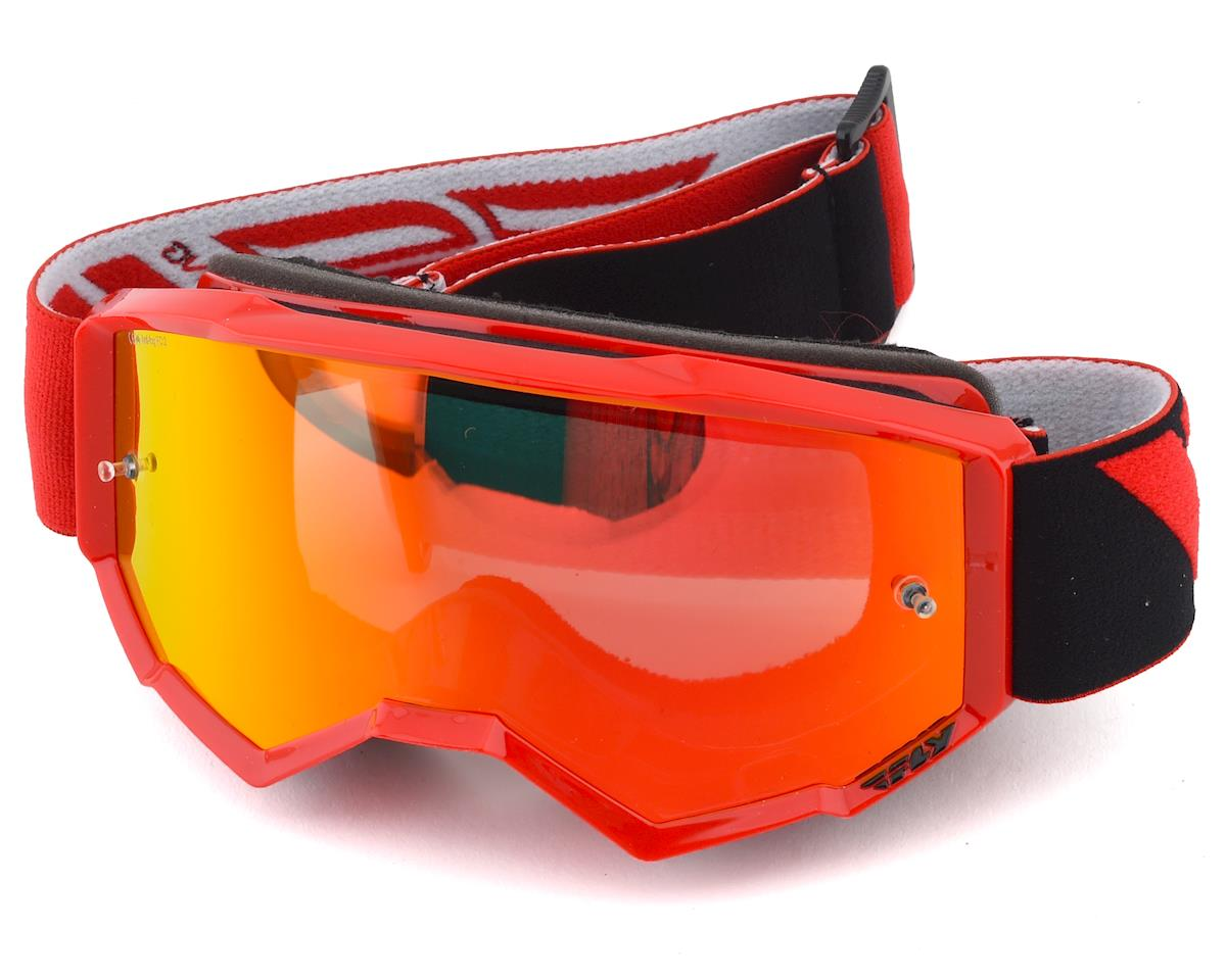 Fly Racing Zone Youth Goggle (Red) (Red Mirror Lens)