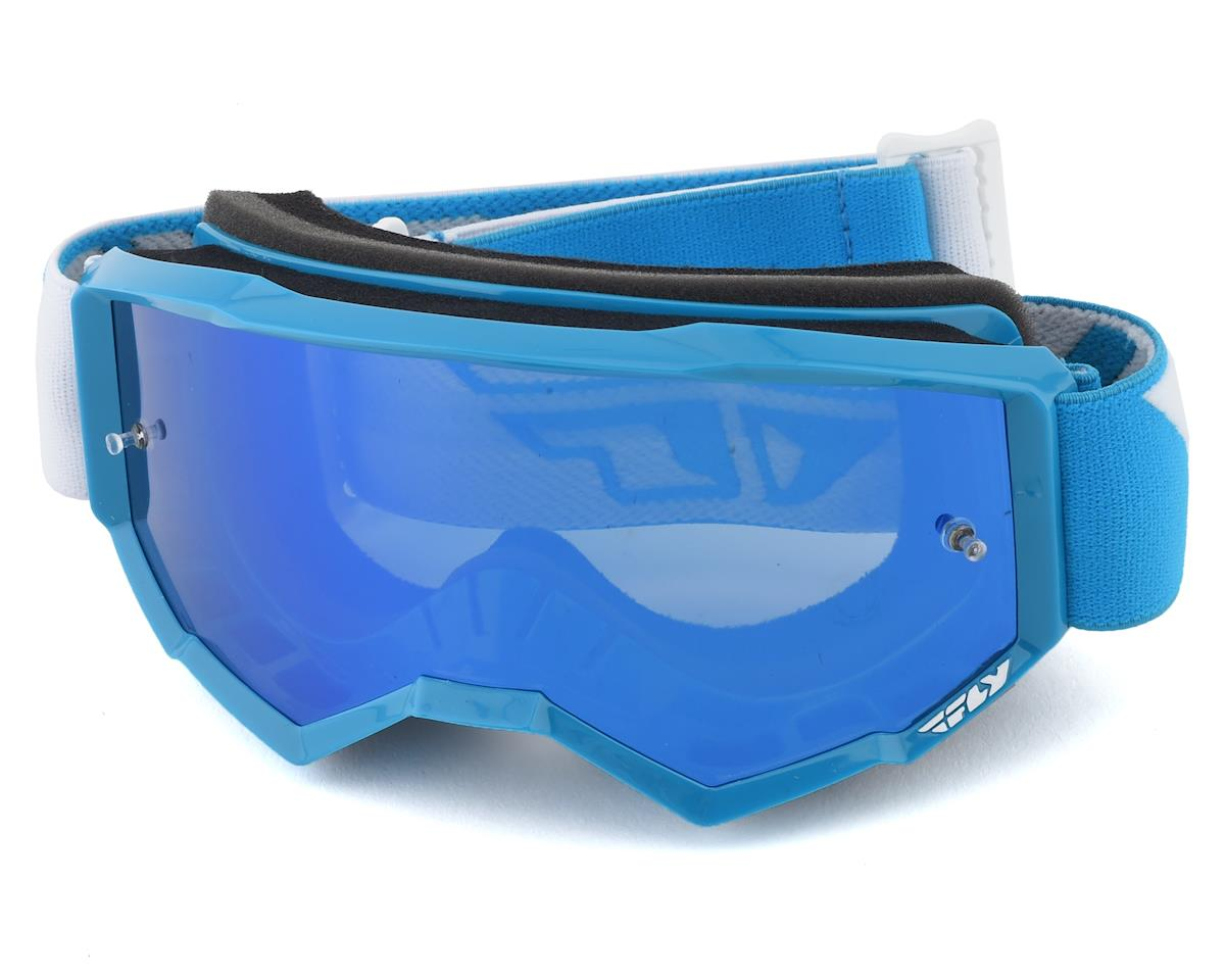 Fly Racing Zone Youth Goggle (Blue) (Sky Blue Mirror Lens)