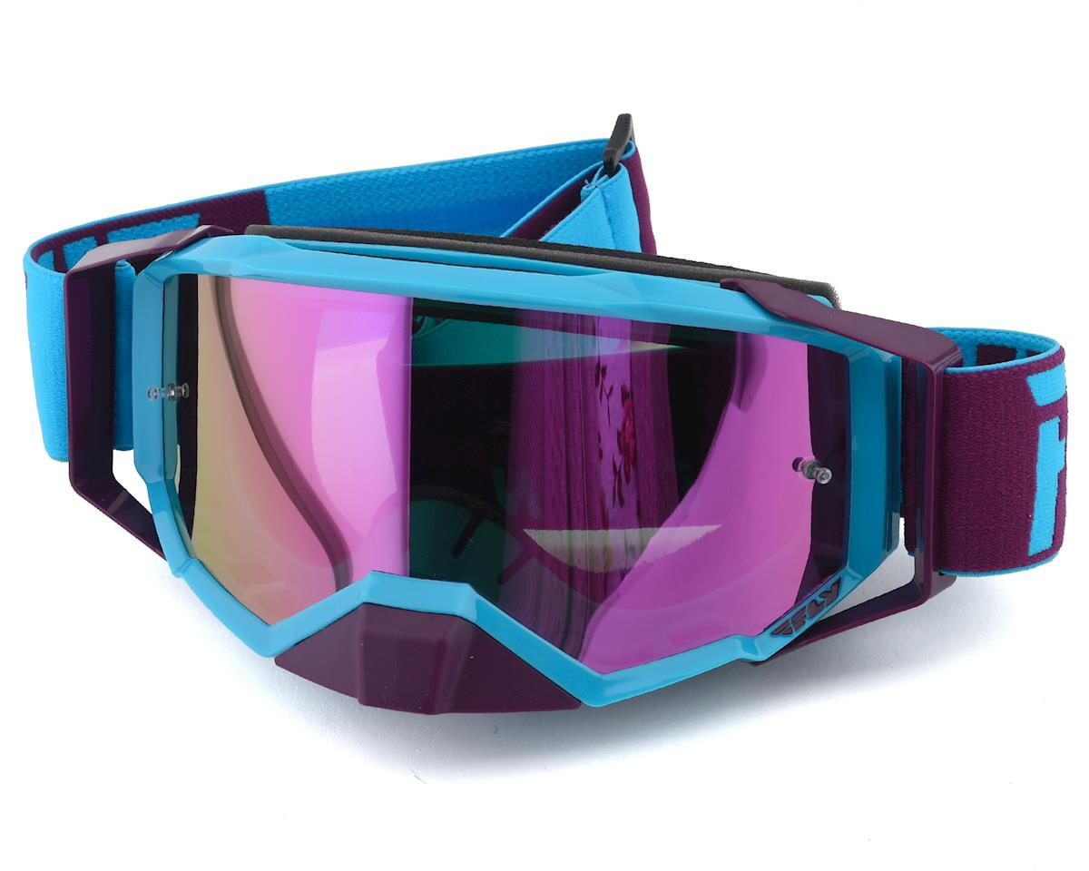 Fly Racing Zone Pro Goggle (Blue/Port) (Pink Mirror Lens)