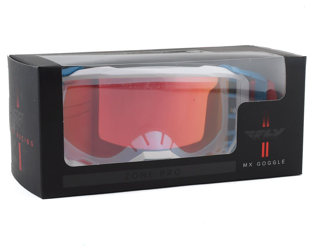 Image 4 for Fly Racing Zone Pro Goggle (Red/White/Blue) (Red Mirror Lens)