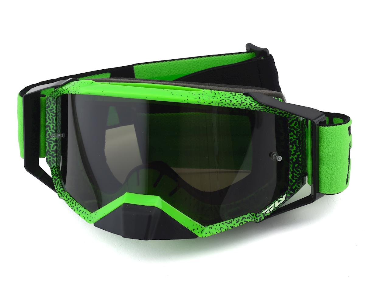 Fly Racing Zone Pro Goggle (Black/Green) (Dark Smoke Lens)