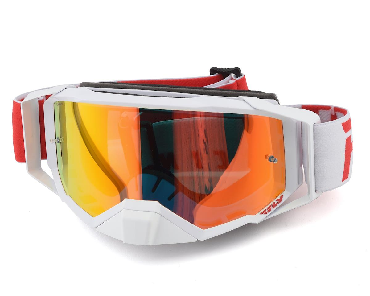 Fly Racing Zone Pro Goggle (Red/White) (Red Mirror Lens)