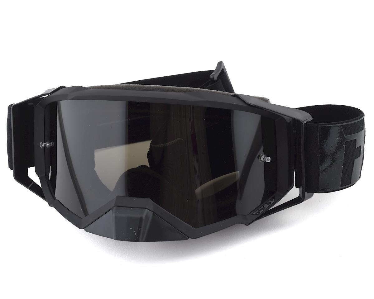 Fly Racing Zone Pro Goggle (Black) (Dark Smoke Lens)