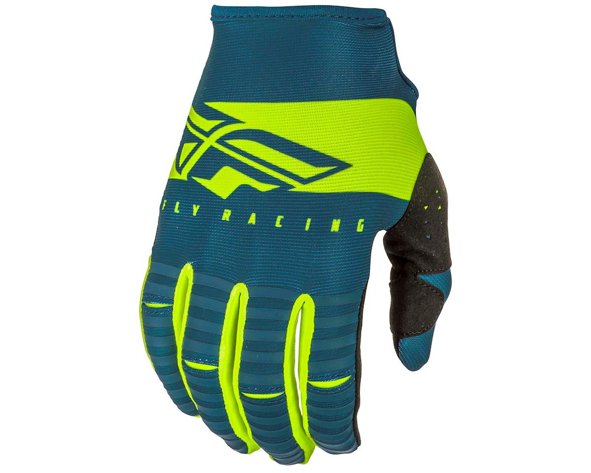 Fly Racing Kinetic Shield Mountain Bike Glove (Navy/Hi-Vis) (S)