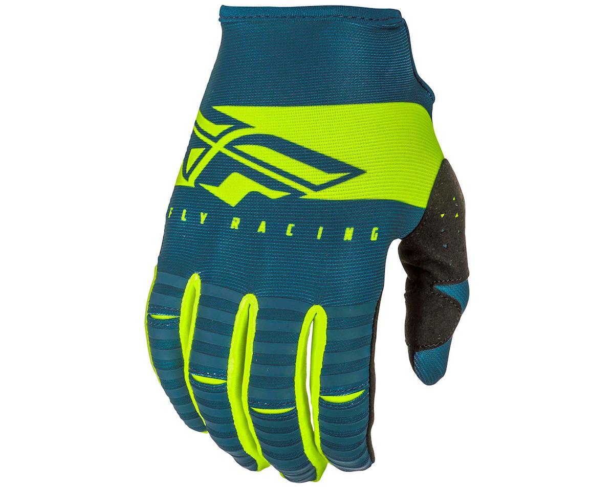 Fly Racing Kinetic Shield Mountain Bike Glove (Navy/Hi-Vis) (L)