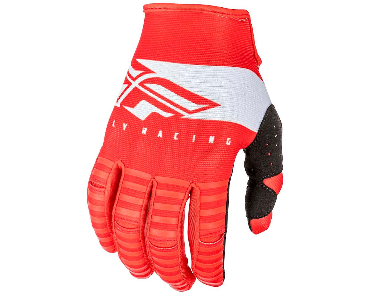Fly Racing Kinetic Shield Mountain Bike Glove (Red/White) (L)
