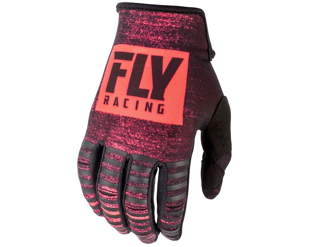 Fly Racing Kinetic Noiz Mountain Bike Glove (Neon Red/Black) (L)