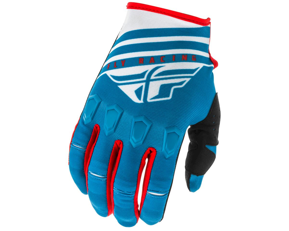 Fly Racing Kinetic K220 Gloves (Blue/White/Red) (2XL)