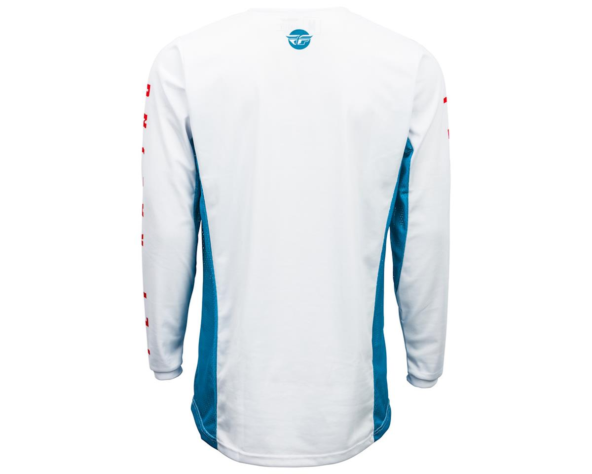 Fly Racing Kinetic K220 Jersey (Blue/White/Red) (M)