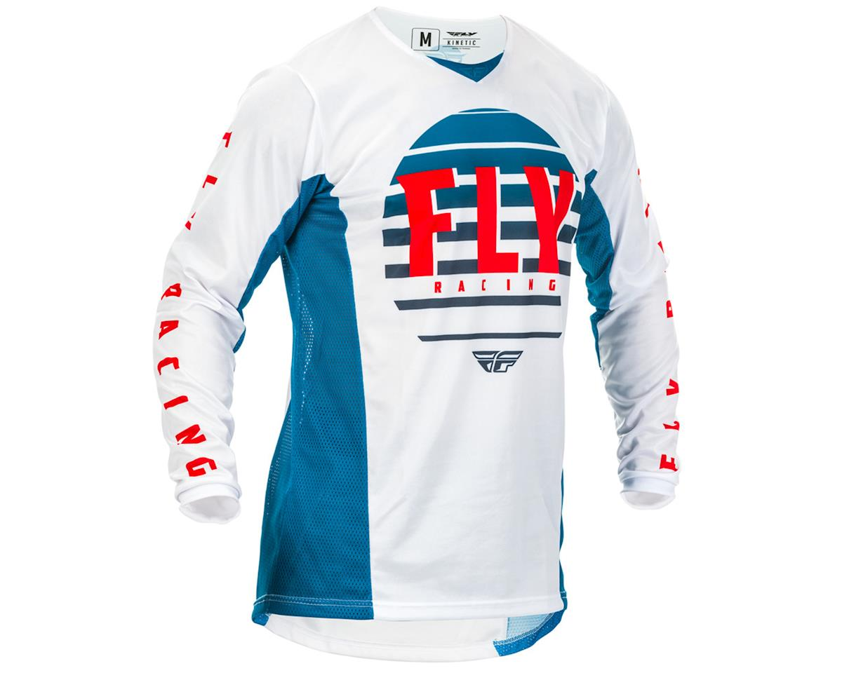 Fly Racing Kinetic K220 Jersey (Blue/White/Red) (XL)