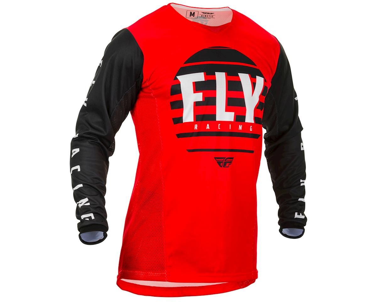 Image 1 for Fly Racing Kinetic K220 Jersey (Red/Black/White) (YL)