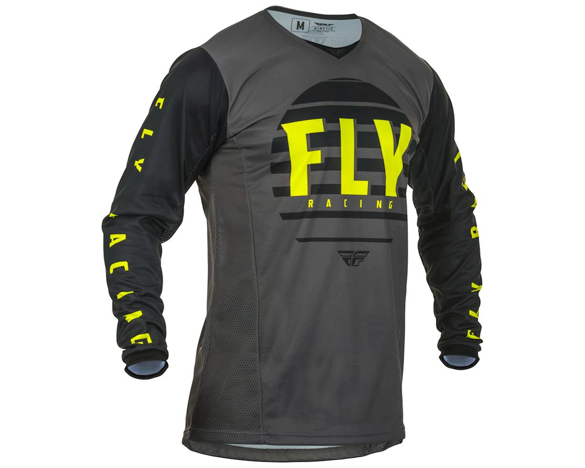 Image 1 for Fly Racing Kinetic K220 Jersey (Black/Grey/Hi-Vis) (L)