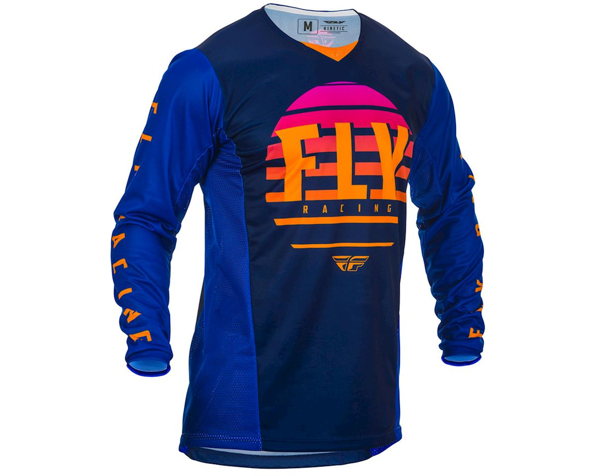 Image 1 for Fly Racing Kinetic K220 Jersey (Midnight/Blue/Orange) (YL)