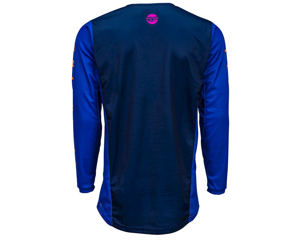 Image 2 for Fly Racing Kinetic K220 Jersey (Midnight/Blue/Orange) (YL)