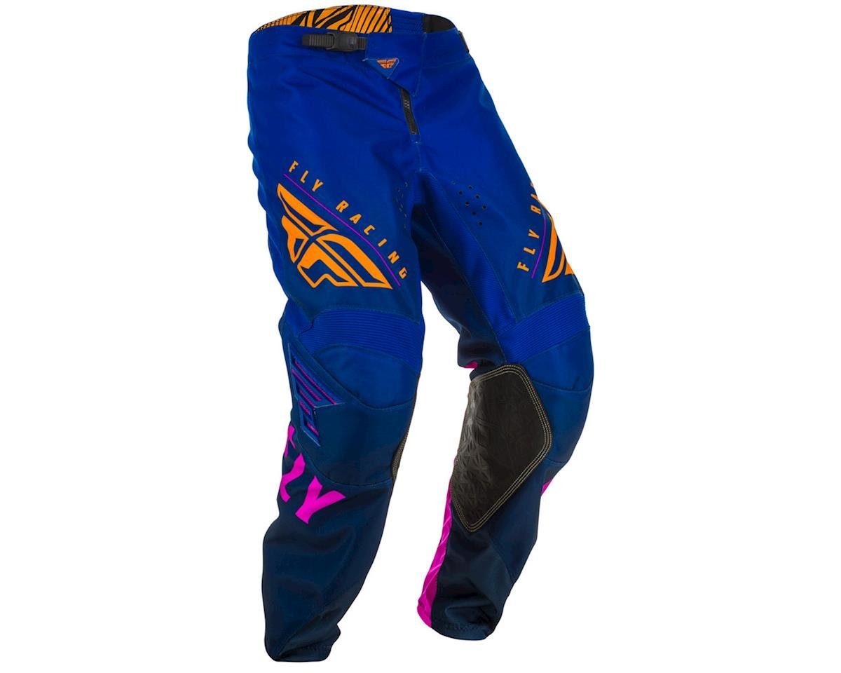 Image 1 for Fly Racing Kinetic K220 Pants (Midnight/Blue/Orange) (26)