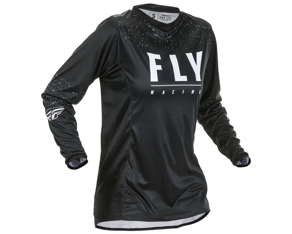 Fly Racing Women's Lite Jersey (Black/White) (YM)