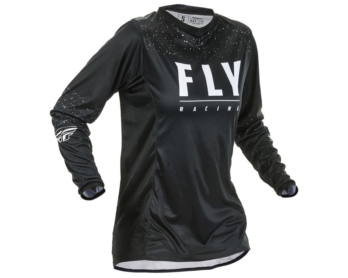 Fly Racing Women's Lite Jersey (Black/White) (YXS)