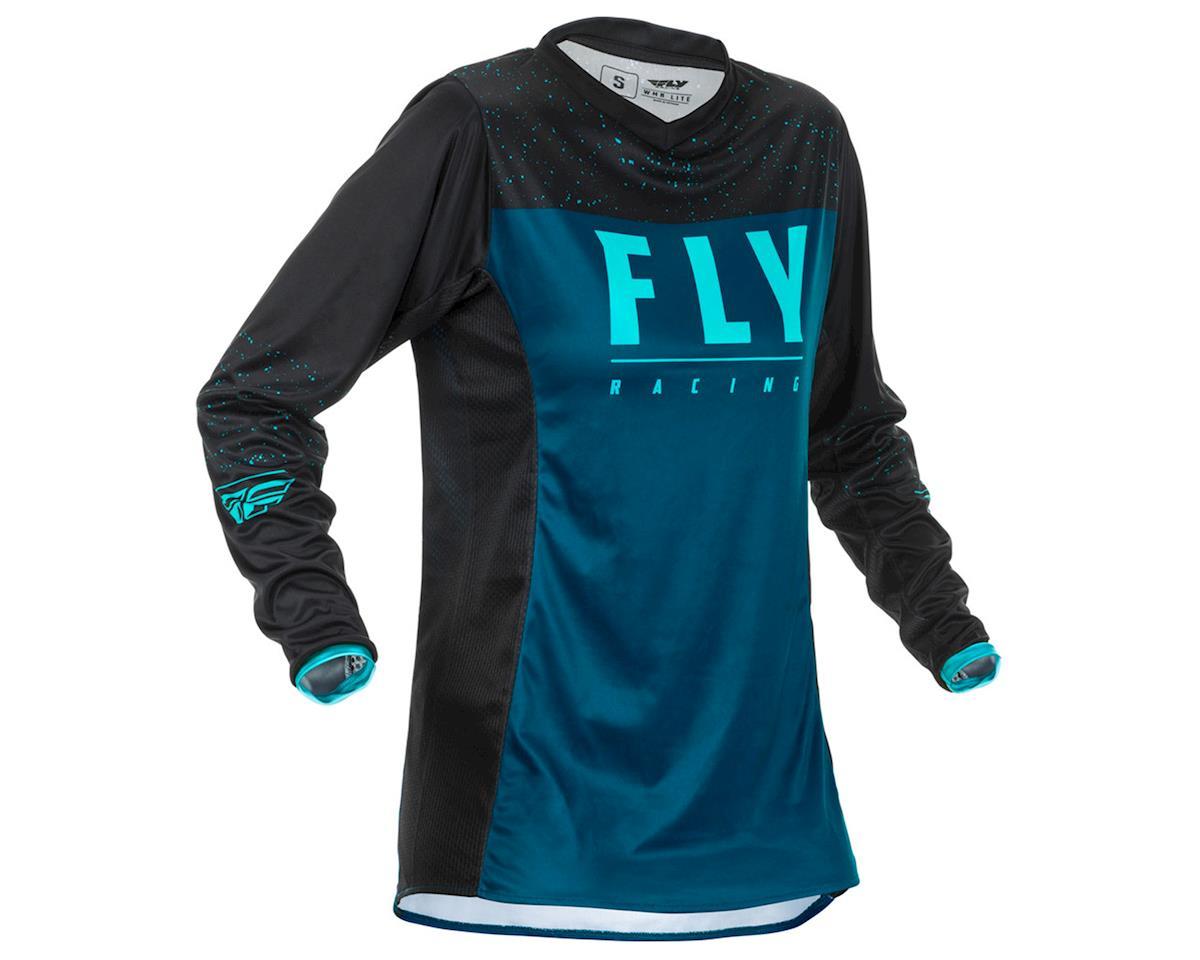 Fly Racing Women's Lite Jersey (Navy/Blue/Black) (L)