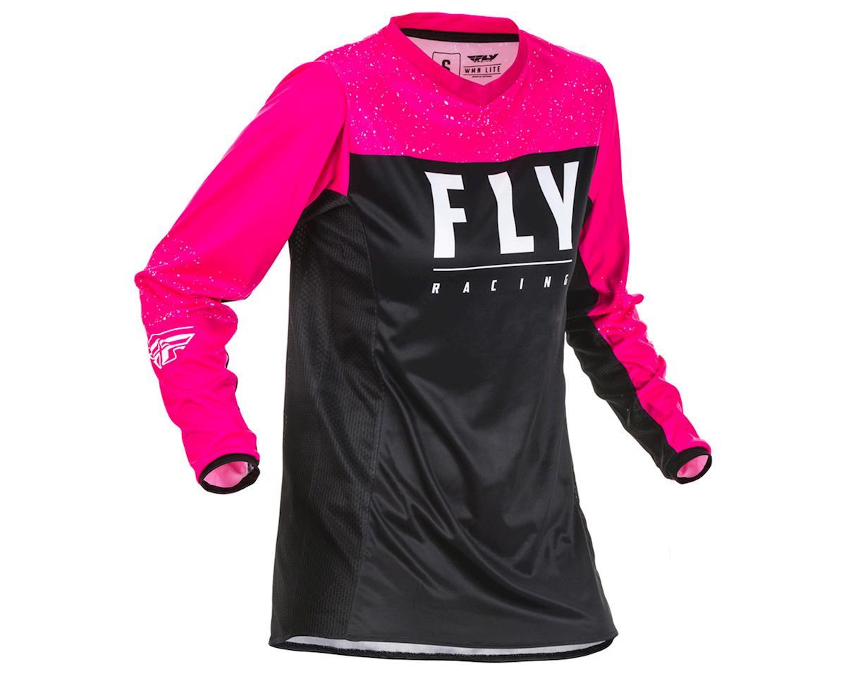 Fly Racing Women's Lite Jersey (Neon Pink/Black) (YXS)