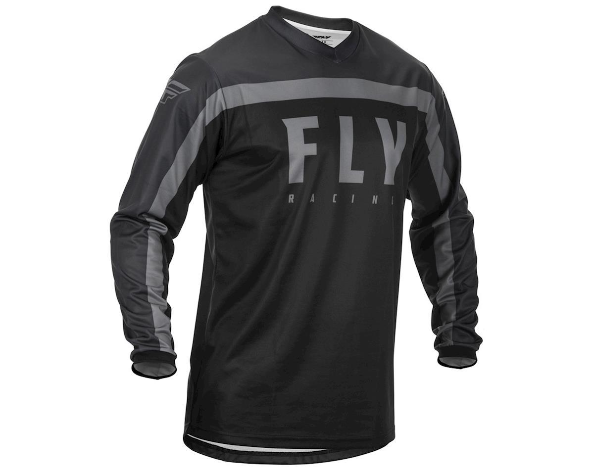 Fly Racing F-16 Jersey (Black/Grey) (YS)