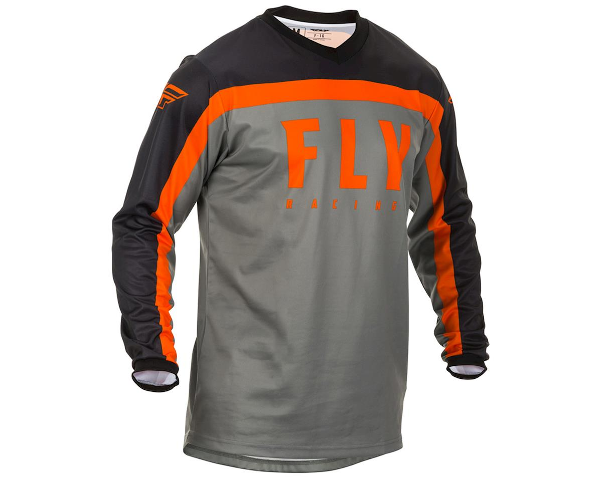 Image 1 for Fly Racing F-16 Jersey (Grey/Black/Orange) (S)