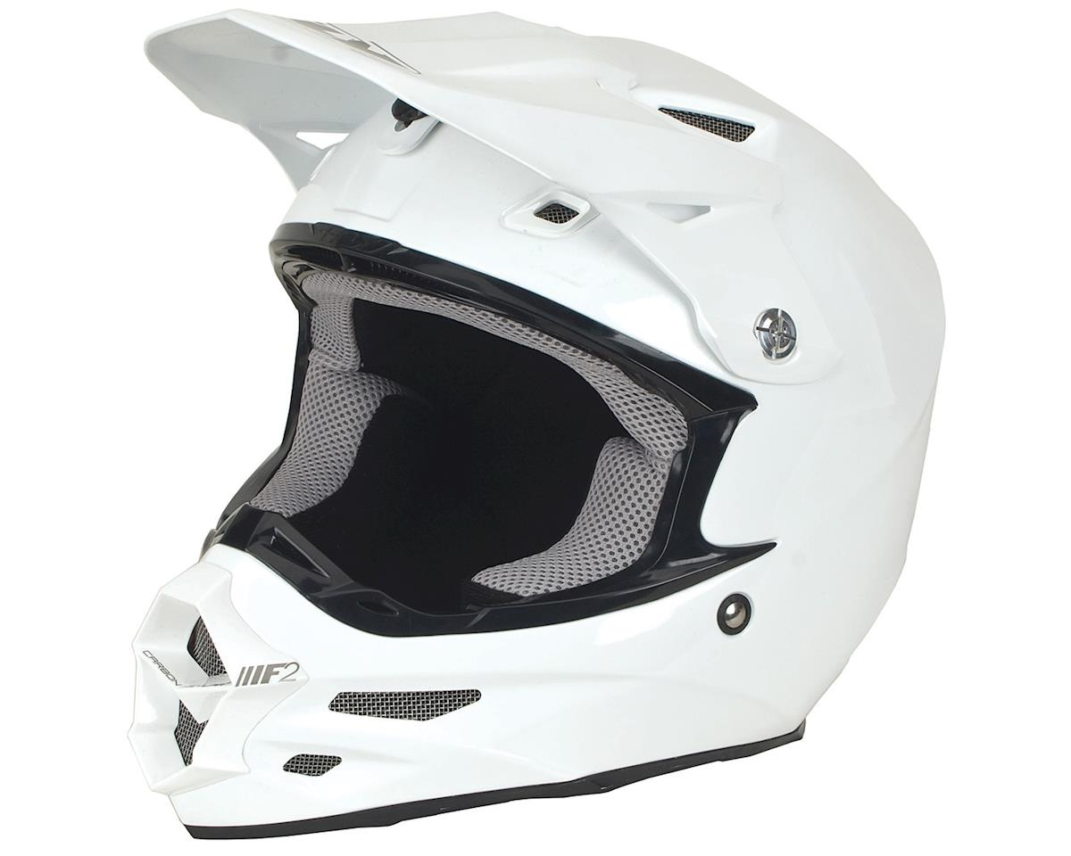 Fly Racing 2018 F2 Carbon Helmet (Gloss White) (XS)