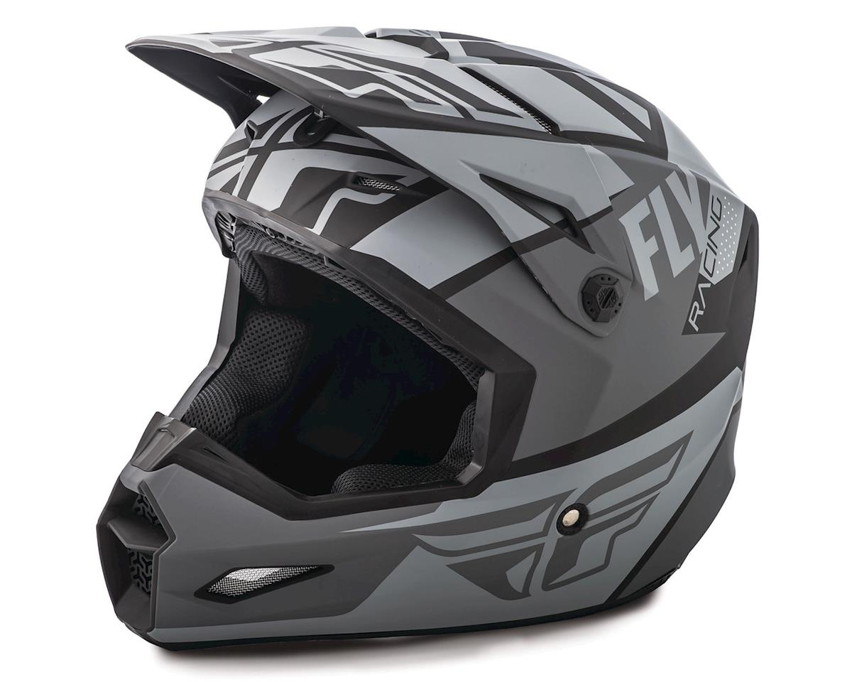 Fly Racing 2019 Elite Guild Youth Helmet (Gray/Charcoal/Black) (Kids M)