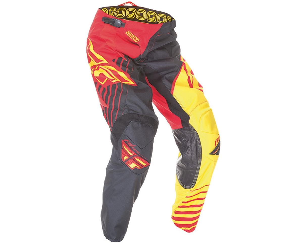 Fly Racing 2016 Kinetic Vector Youth Pants (Red/Black/Yellow)