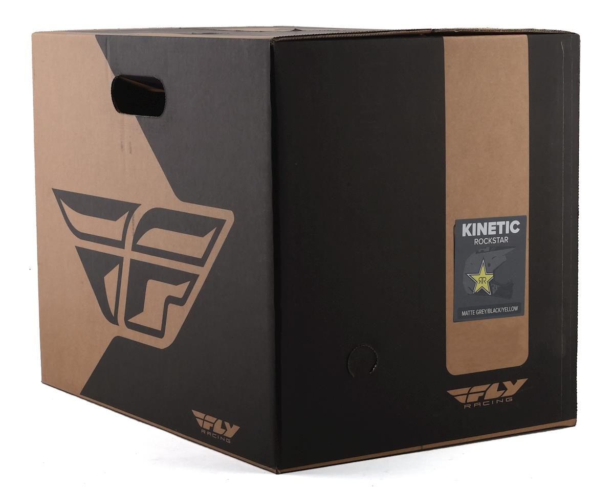 Fly Racing Kinetic Rockstar Helmet (Matte Grey/Black/Yellow) (L)