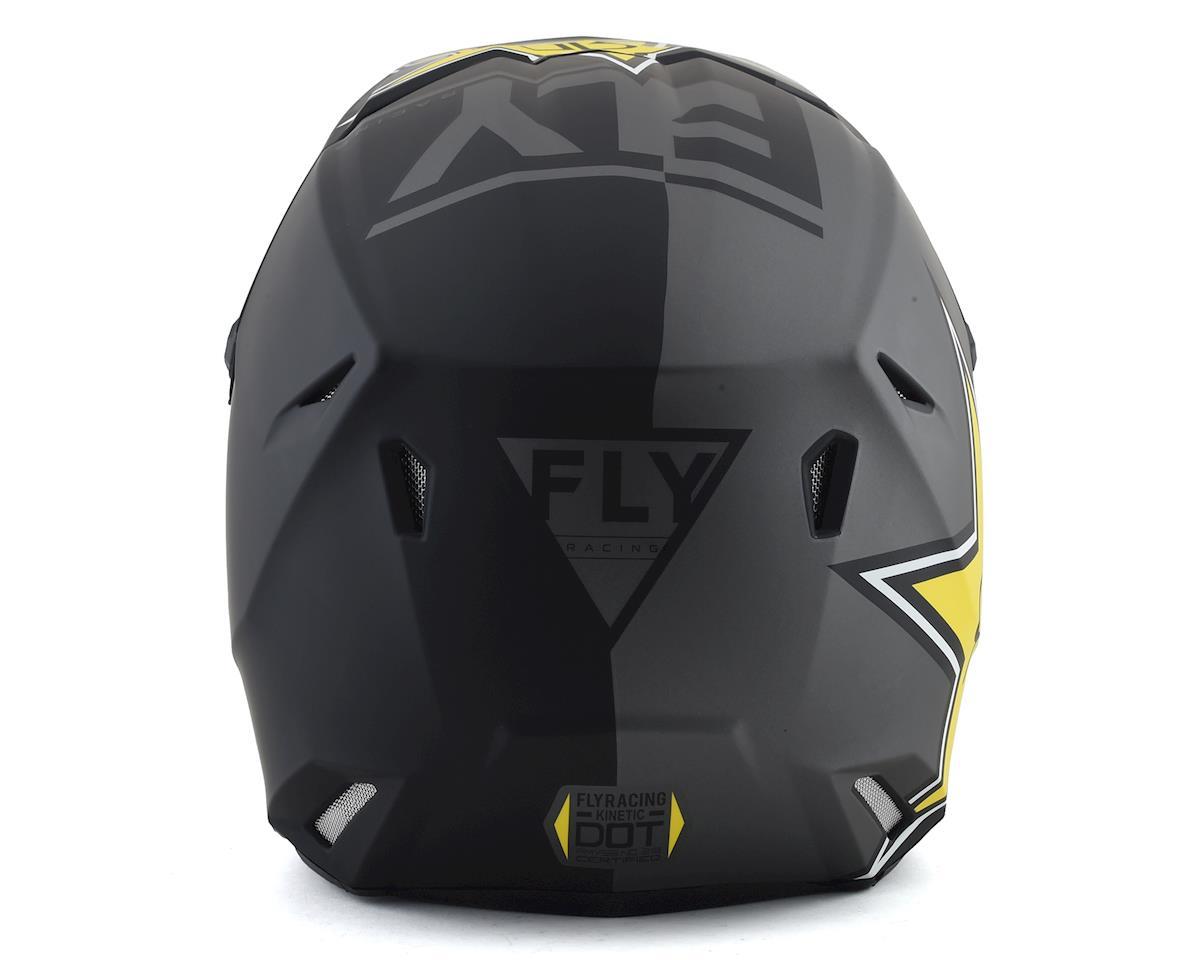 Fly Racing Kinetic Rockstar Helmet (Matte Grey/Black/Yellow) (S)