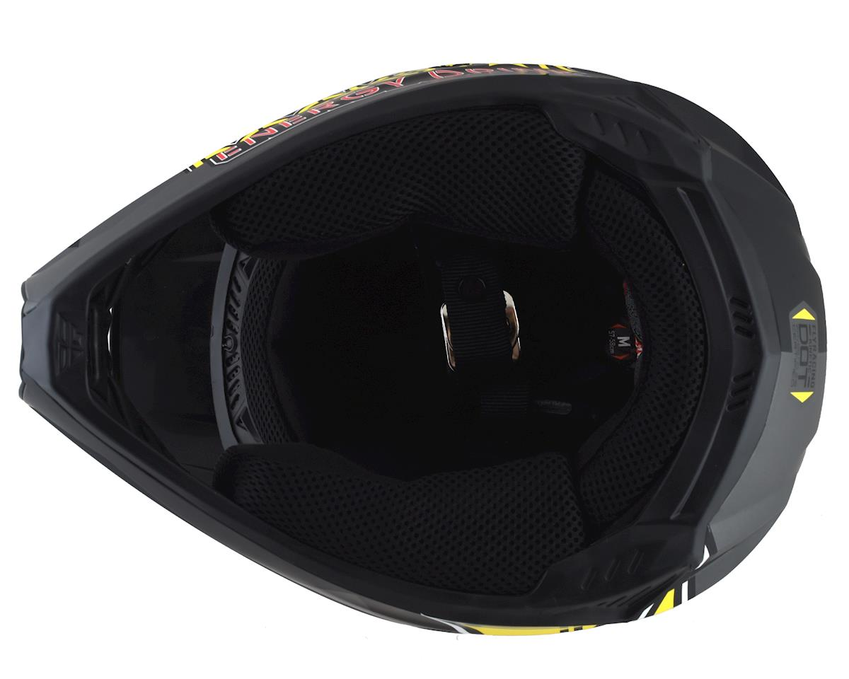 Image 3 for Fly Racing Kinetic Rockstar Helmet (Matte Grey/Black/Yellow) (XS)