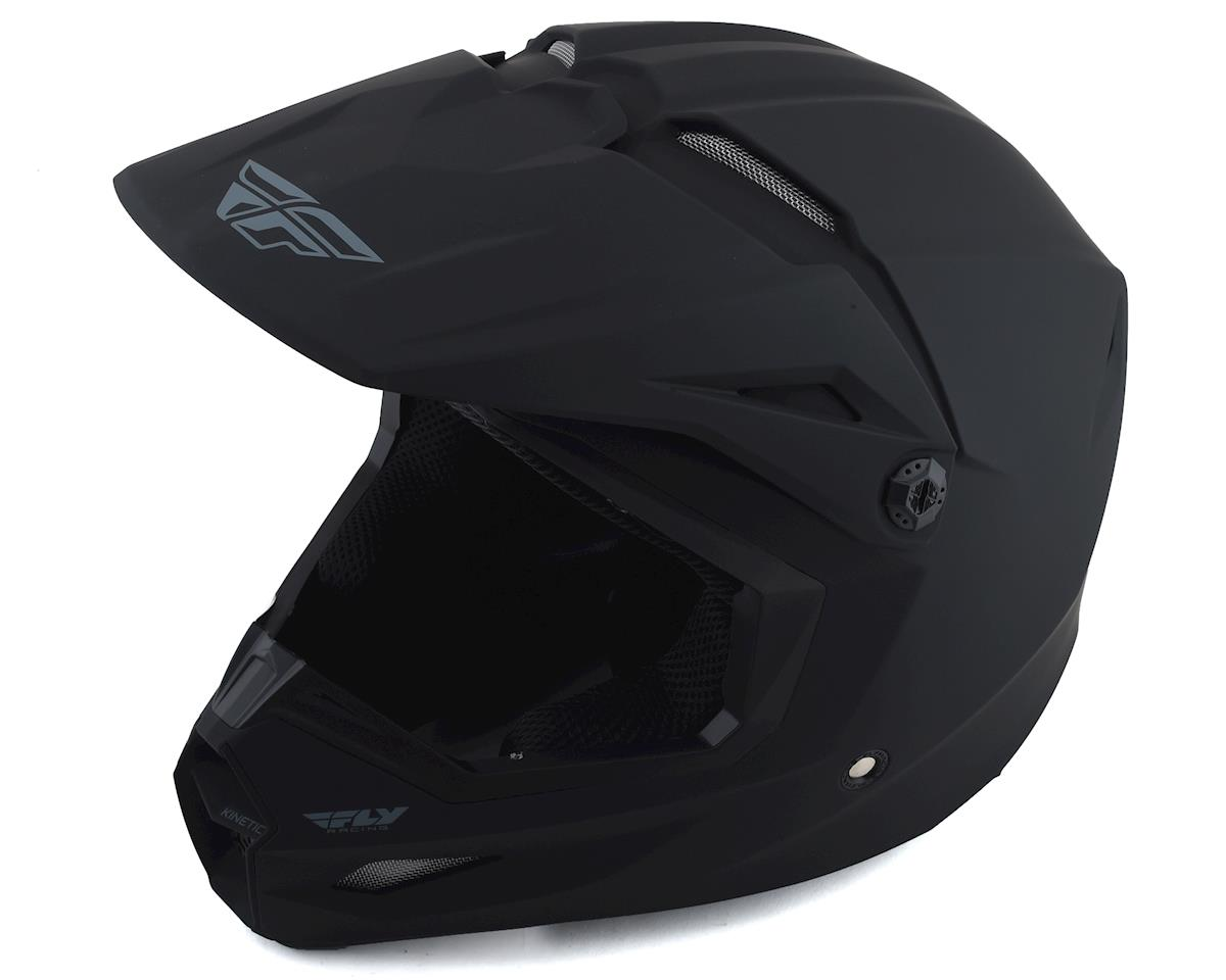 Fly Racing Kinetic Solid Youth Helmet (Matte Black) (L)