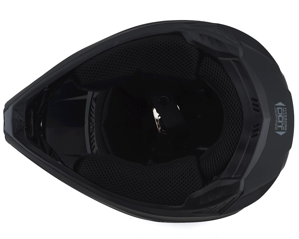 Fly Racing Kinetic Solid Youth Helmet (Matte Black) (S)